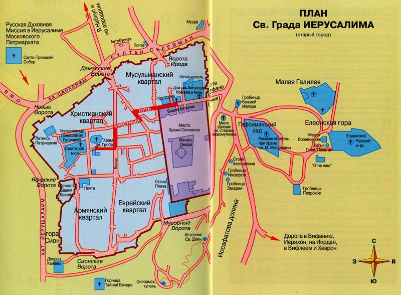 План Иерусалима