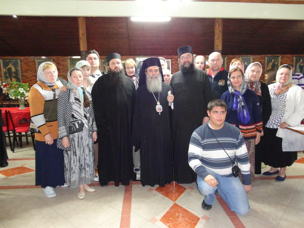 С Патриархом Иерусалимским Феофилом
