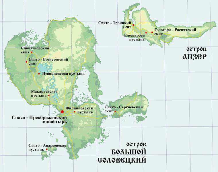 Соловки карта