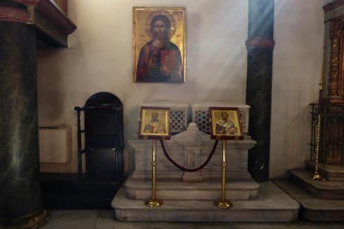 Мощи свт. Иоанна Златоуста и свт. Григория Богослова