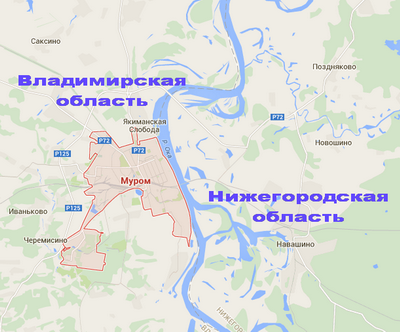 Муром. Карта