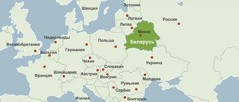 Беларусь карта мира