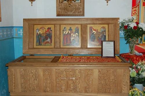 Рака с мощами святого праведного Алексия Бортсурманского