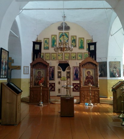 Внутреннее убранство храма в с.Бортсурманы