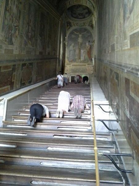 Лестница из дома Понтия Пилата, по которой шел Спаситель