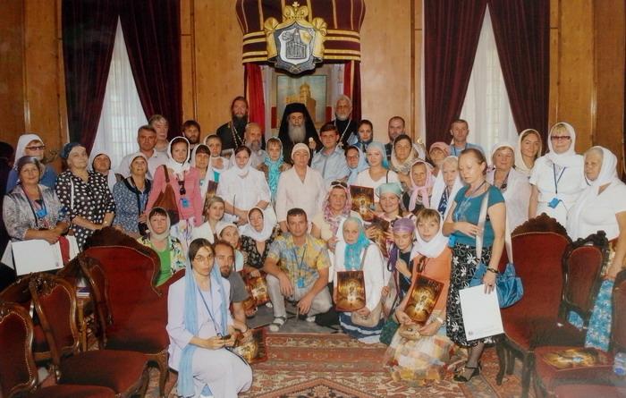 Паломники из Чебоксар с Иерусалимским Патриархом Феофилом