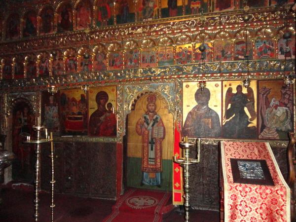 Иконостас. Монастырь Петрас