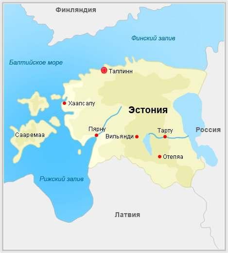 Эстония. Карта