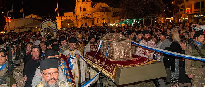 Крестный ход с мощами Лазаря Четверодневного. Кипр