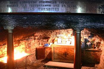 Пещера св. пророка Ильи на территории кармелитского монастыря на г. Кармил
