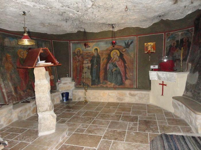 Пещера Илии Пророка. Монастырь Георгия Хозевита. Иудейская пустыня. Израиль