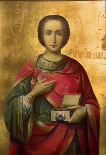 Икона Святого Великомученика и целителя Пантелеимона