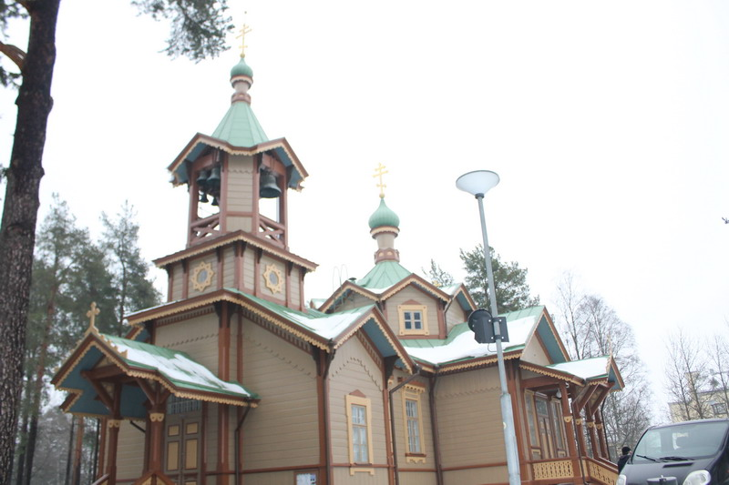 Православный храм в честь святителя Николая Чудотворца в г.Йоенсуу. Финляндия