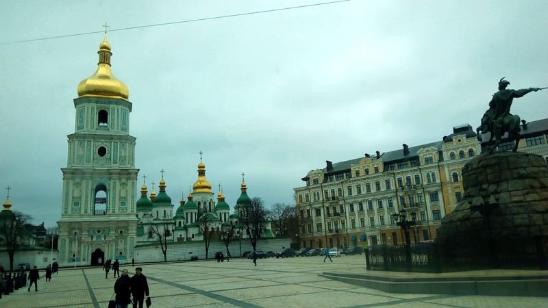 Софийская площадь. Софийский собор. Киев