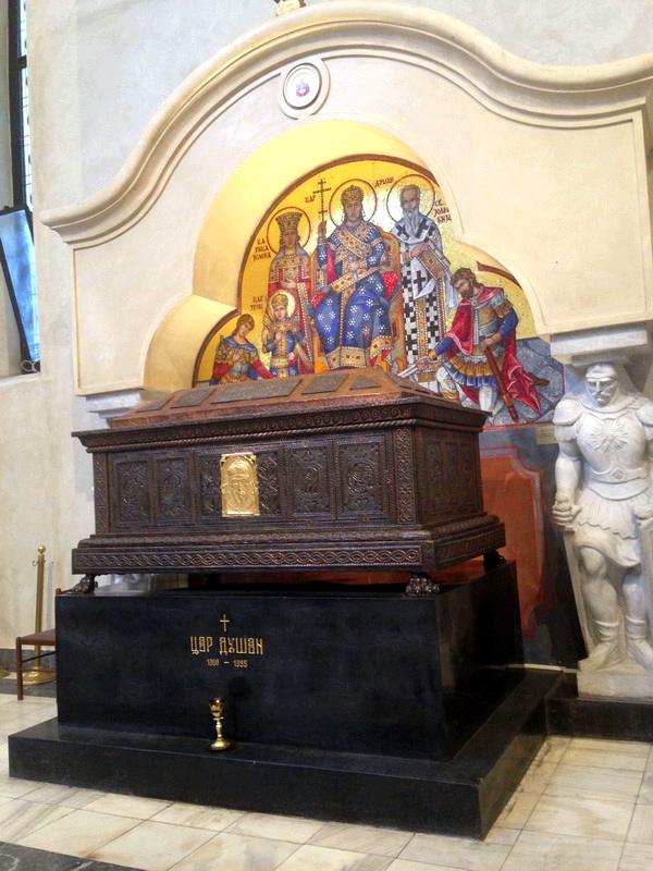 Сте́фан У́рош IV Ду́шан. Церковь Святого Марка. Белград. Сербия