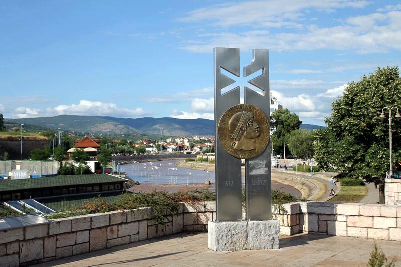 Памятник Константину Великому. Нишская крепость. Сербия