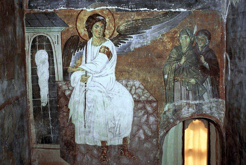 Фреска Белый ангел. Милешева. Сербия