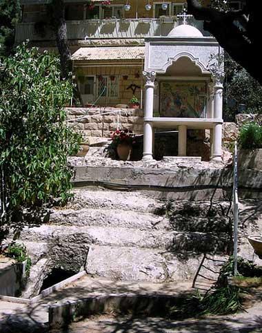 Ступени древней дороги по которой шел Спаситель в Иерусалим. Гефсимания. Монастырь Марии Магдалины